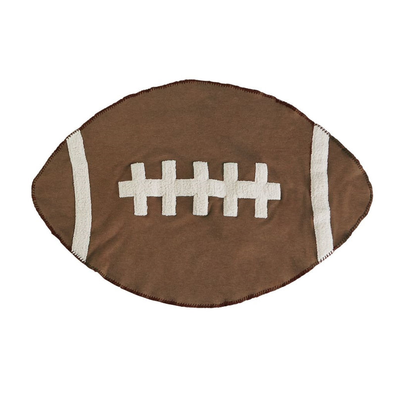 Mud Pie Football Sherpa Baby Blanket