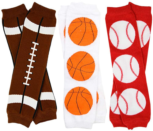 Super Sporty Little Fan Leg Warmers - 3 Pack
