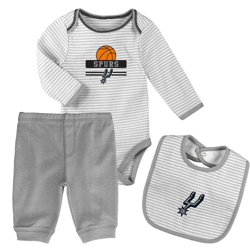 Baby Spurs Creeper, Bib and Pant Set