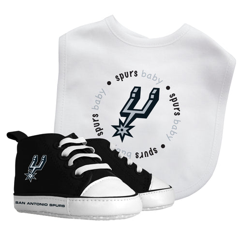 Spurs Baby Bib with Pre-Walking Shoes