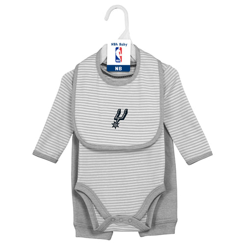 Baby Spurs Creeper,, Bib and Pant Set