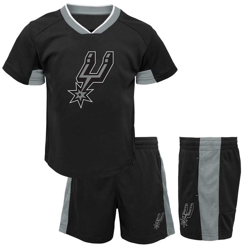 Spurs Performance Short Sleeve Shirt and Shorts Set