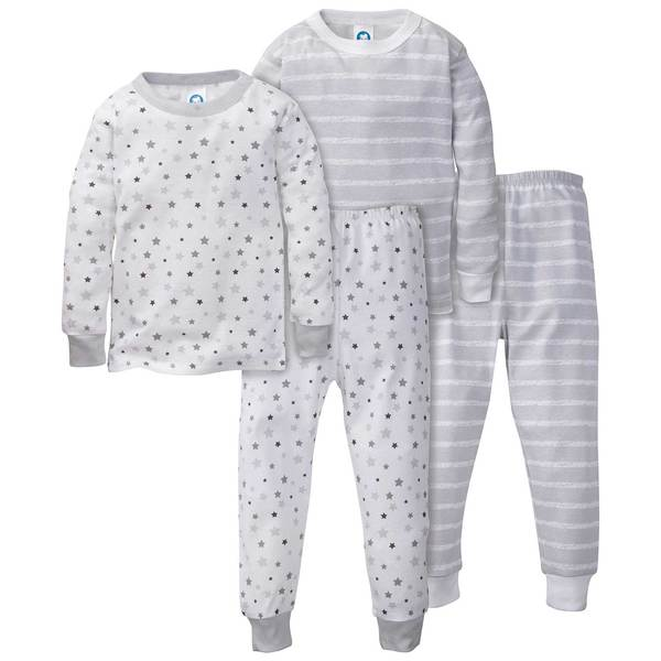 All-Stars and Stripes Organic Cool Gray PJ Sets