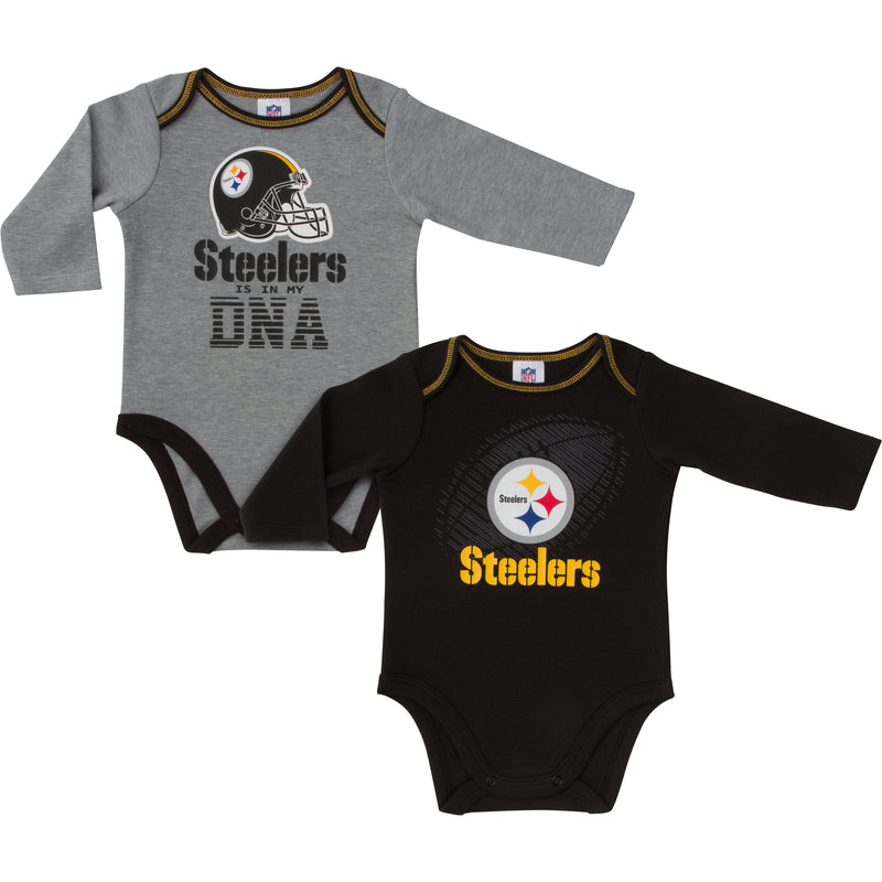 Steelers Is In My DNA 2 Pack Long Sleeved Onesies
