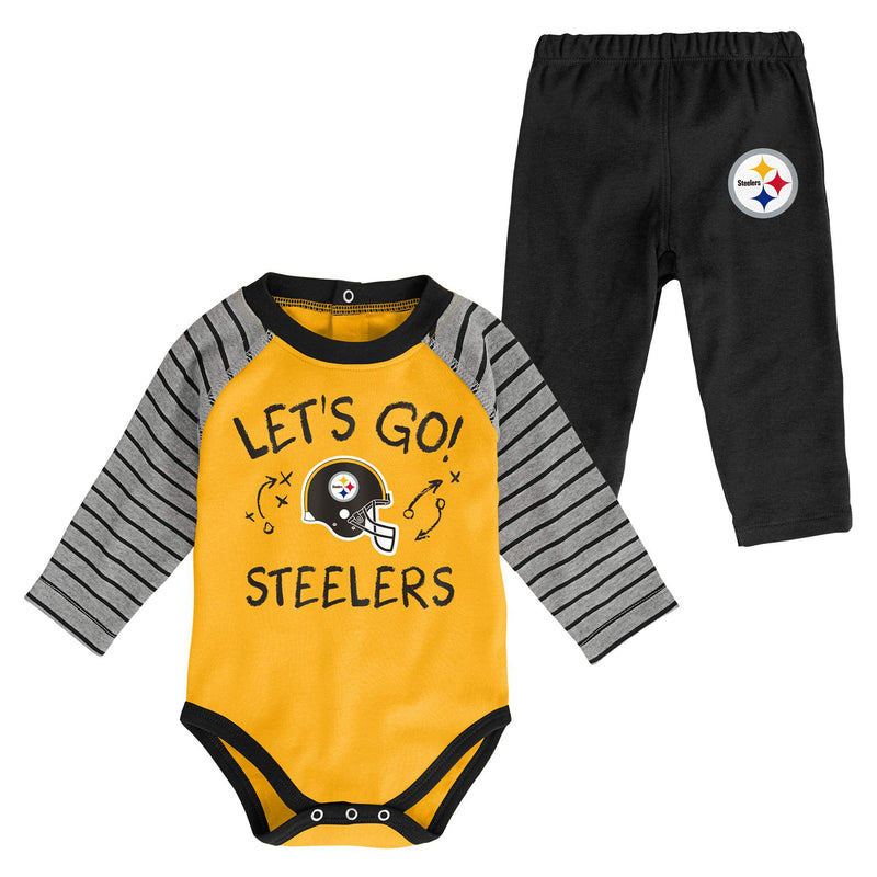 Steelers Long Sleeve Bodysuit and Pants