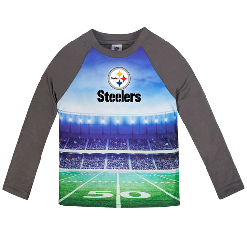 Steelers Long Sleeve Football Performance Tee