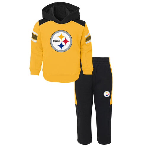 Steelers Infant Hooded Fleece Lined Set
