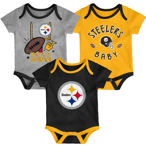 Steelers Baby 3 Piece Bodysuit Set