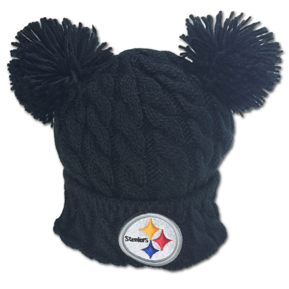 Steelers Double Pom Pom Hat – babyfans 44e28186f