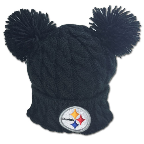 Steelers Double Pom Pom Hat