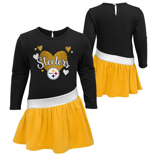 Steelers Girls Heart Jersey Dress