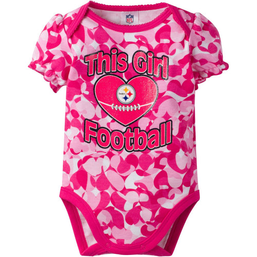 Steelers Infant Girl Camo Bodysuit