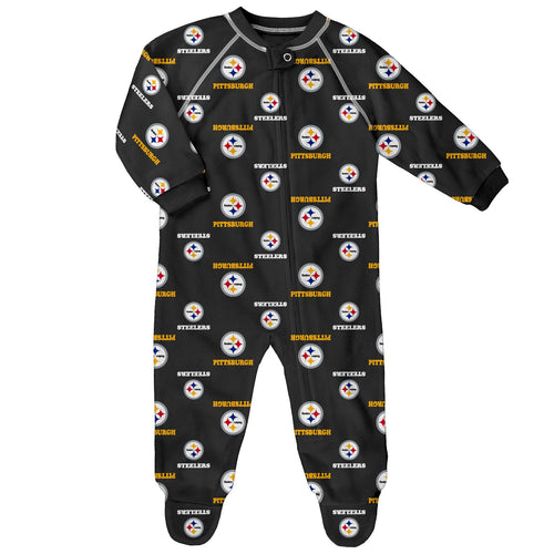 Steelers Logo Zip Up Pajamas