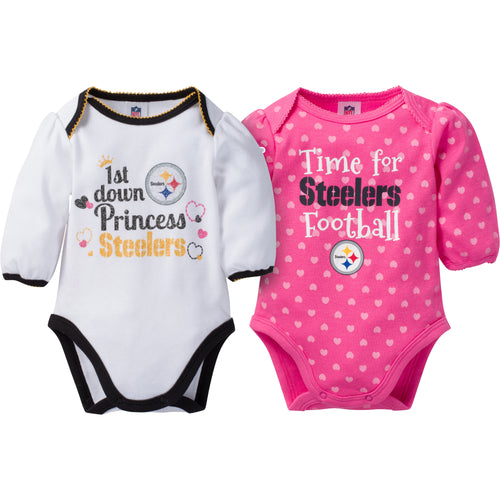 Steelers Baby Princess Bodysuit Set