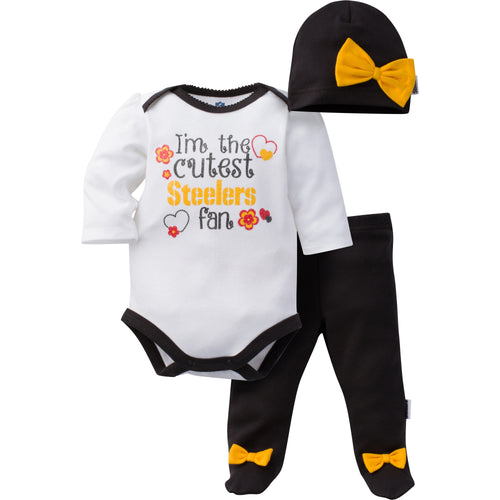 Baby Girl Steelers Outfit