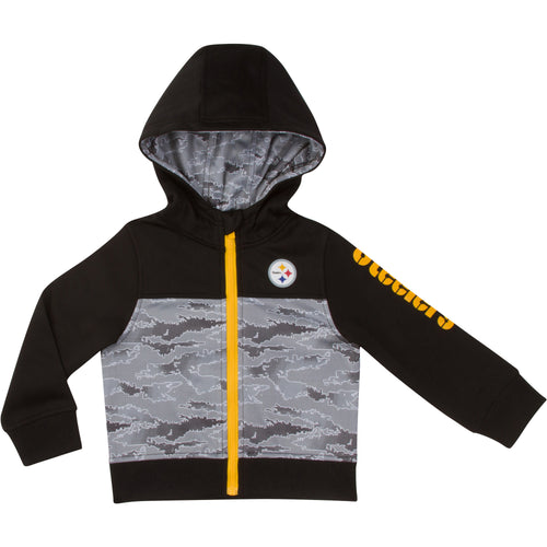 Steelers Zip Up Hooded Jacket