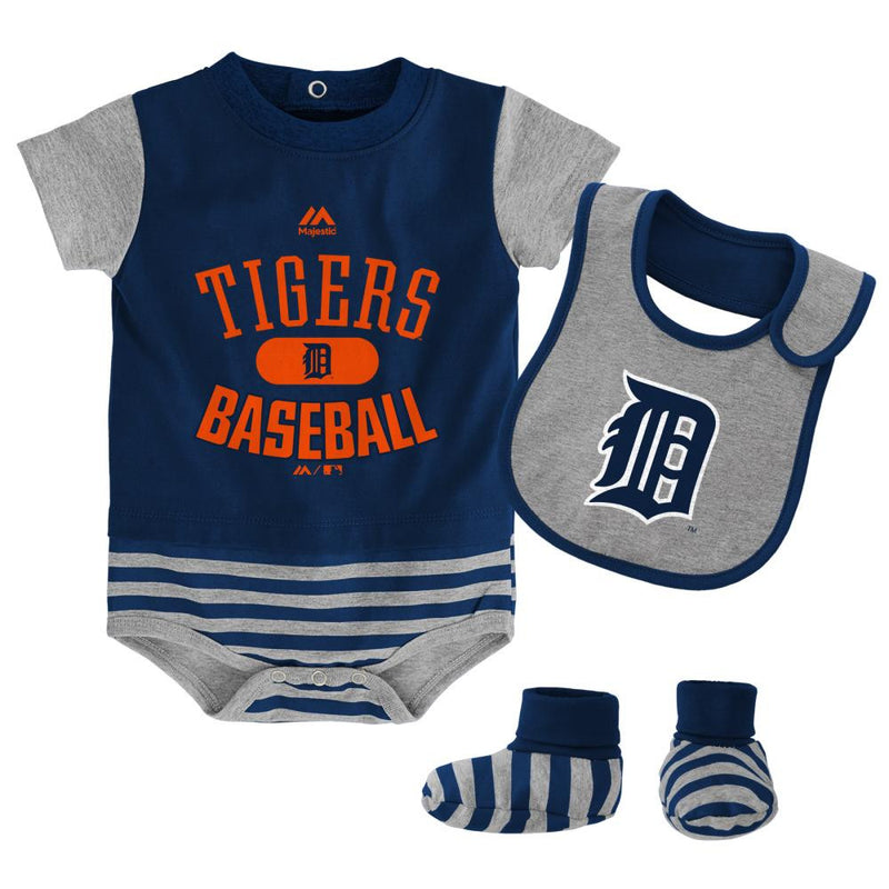 Tigers Baby Onesie, Bib and Bootie Set