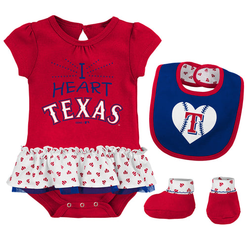 Copy of Baby Girl I Heart The Rangers Skirted Bodysuit Set