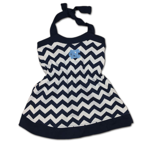 UNC Girl Chevron Print Halter Sundress