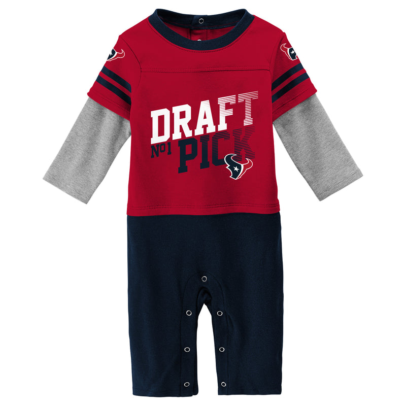 Texans Boy Long Sleeve Coverall