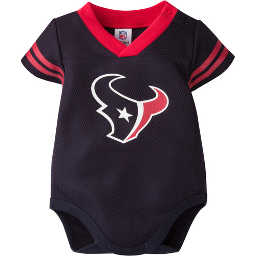 Baby Texans Football Jersey Onesie