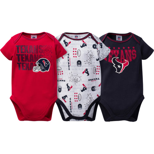 Texans Baby 3 Pack Short Sleeve Onesies