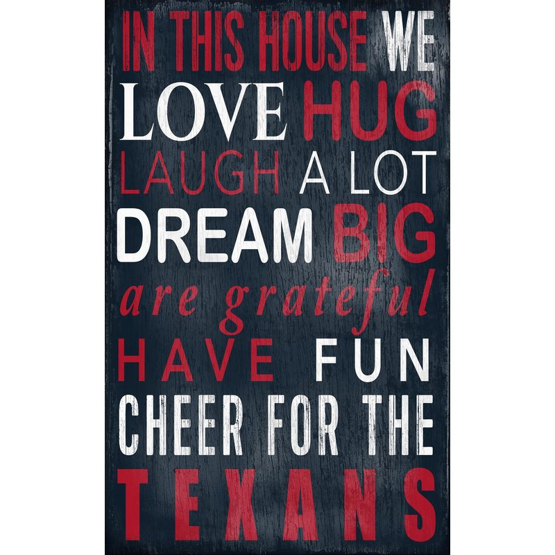 Texans In This House Wall Decor Babyfans