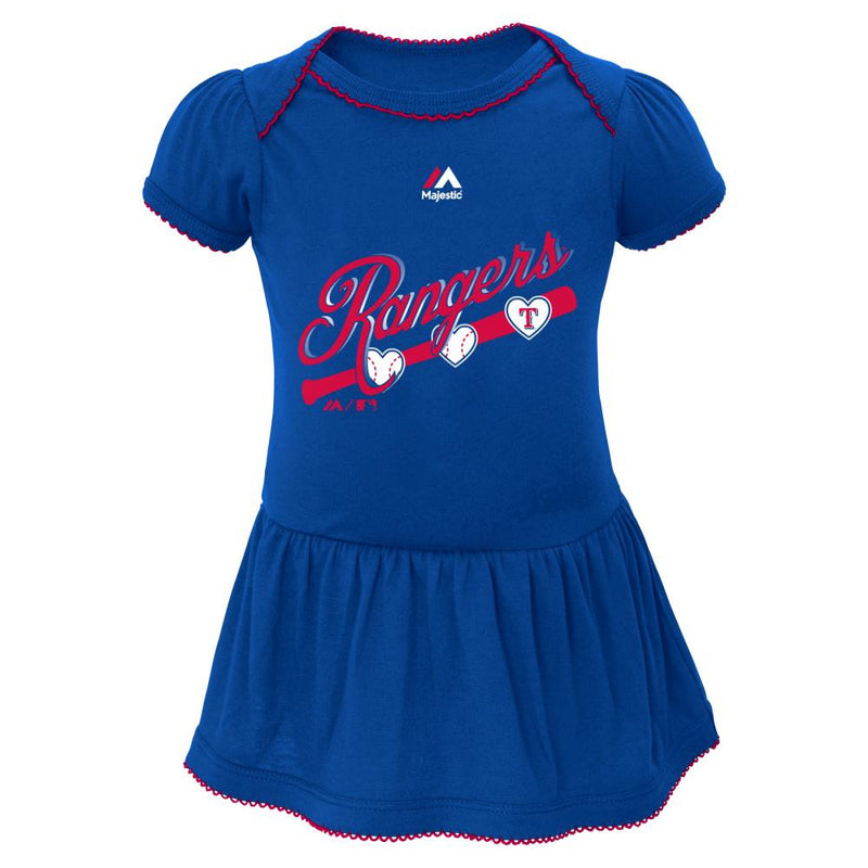 Rangers Triple Play Baby Dress