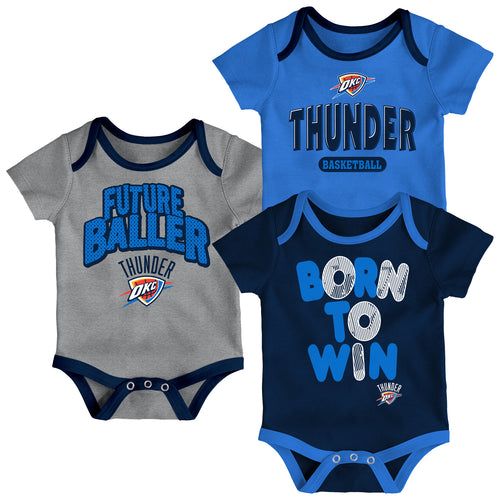 Thunder Future Baller 3-Pack Bodysuit Set