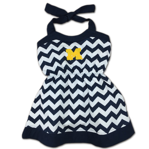 Michigan Girl Chevron Print Halter Sundress