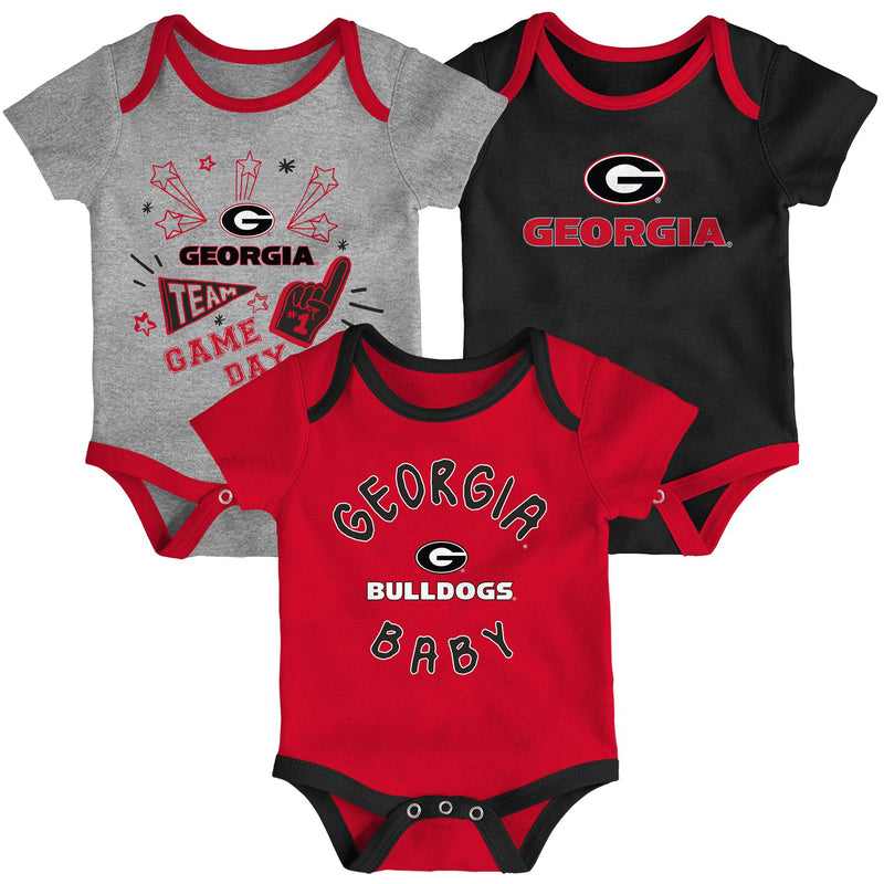 Georgia Gameday 3 Piece Bodysuit Set