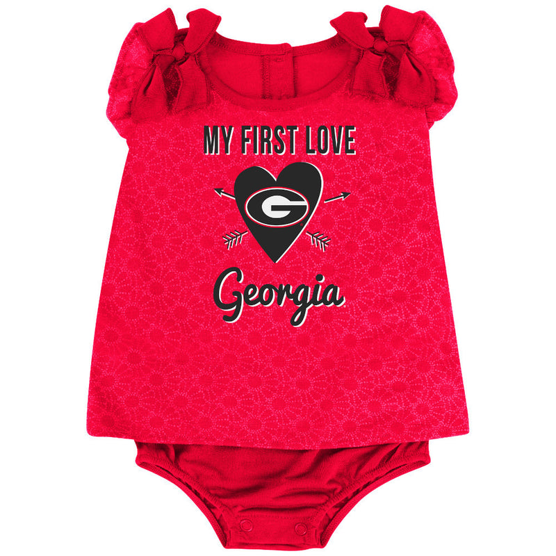 Bulldogs Baby Girl My First Love Outfit