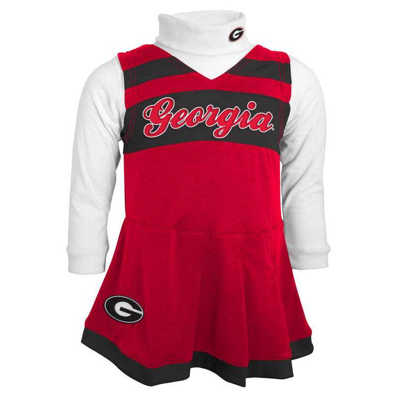 Georgia Bulldogs Kids Cheerleader Outfit