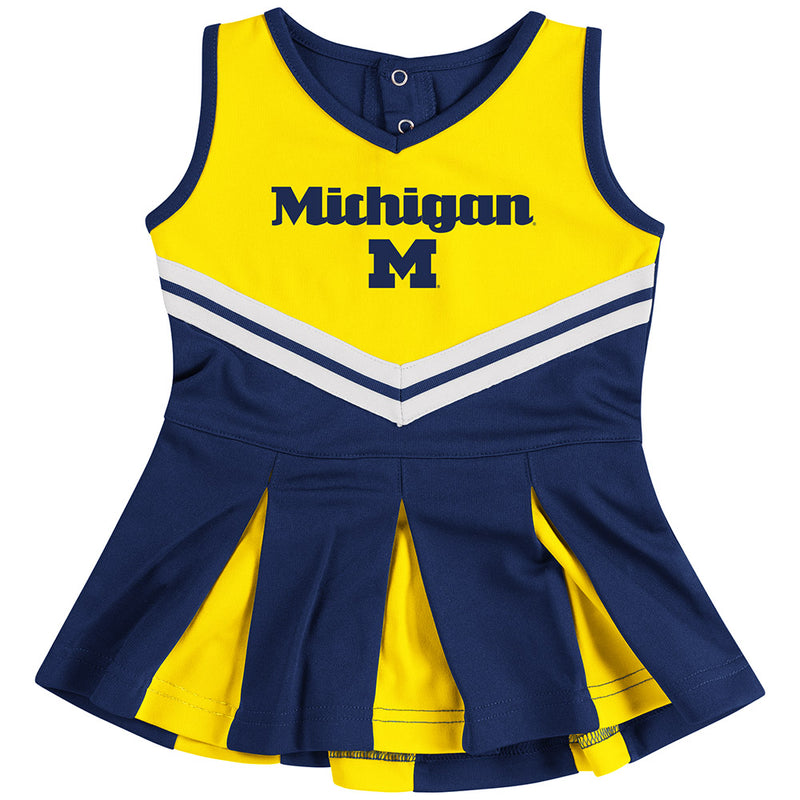 Michigan Pom Pom Infant Cheerleader Dress