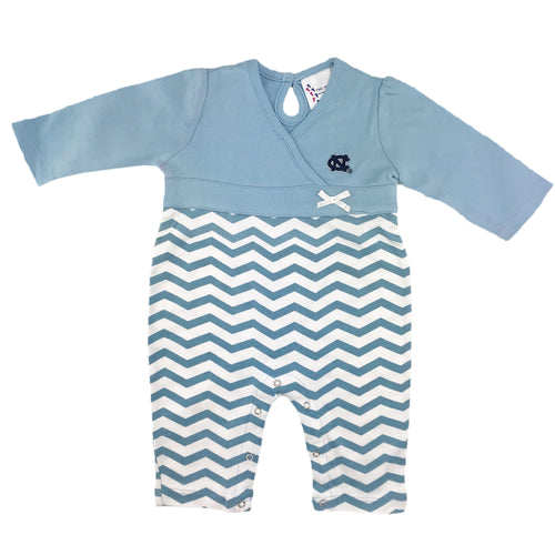 UNC Chevron Baby Girl Coverall