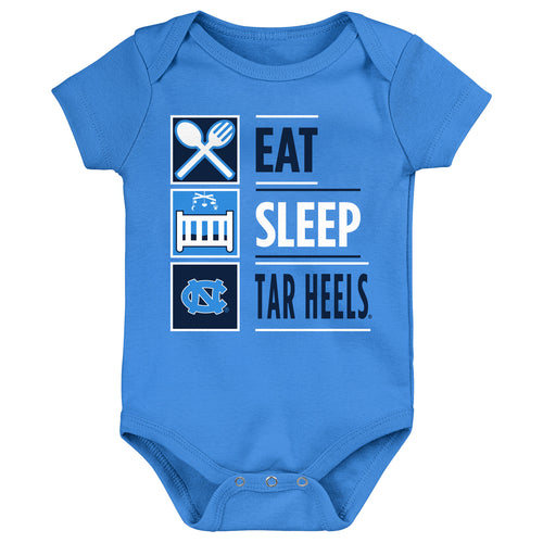 Eat Sleep Tar Heels Onesie