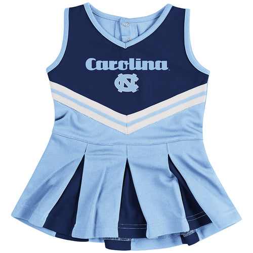 North Carolina Pom Pom Infant Cheerleader Dress