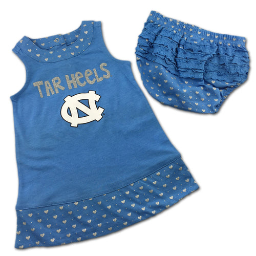 North Carolina Spirited Heart Dress with Bloomers