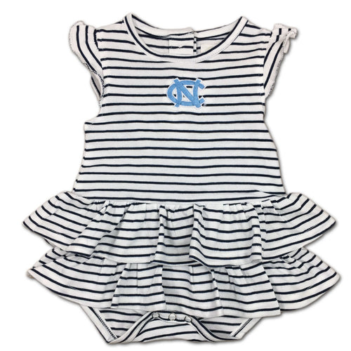 UNC Stripes 'n Ruffles Skirted Romper