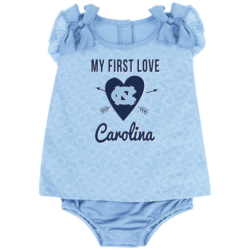 Tarheels Baby Girl My First Love Outfit