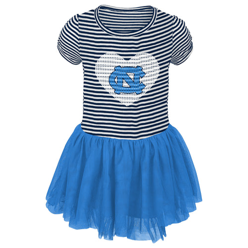 UNC Girls Sequin Tutu Dress