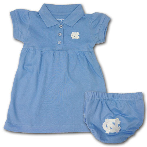 UNC Polo Dress with Embroidered Bloomers