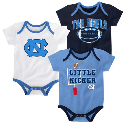 UNC Little Kicker Onesie 3-Pack