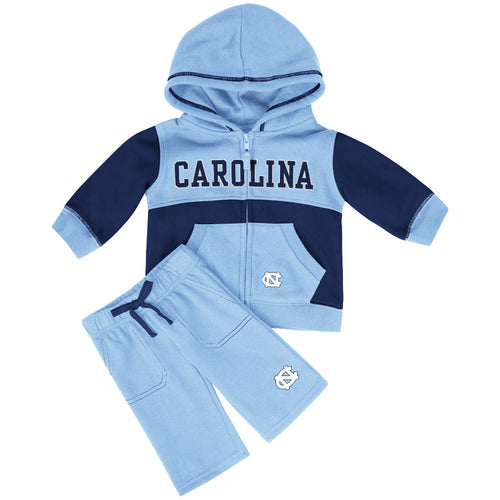 Tarheels Baby Color Block Fleece Set