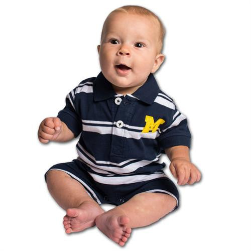 U of M Baby Striped Romper