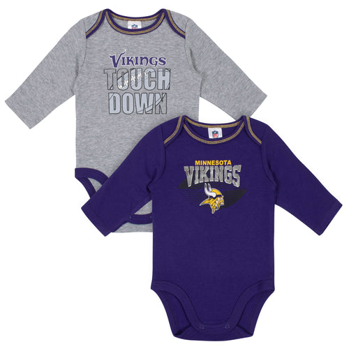 Minnesota Vikings Baby Boy Long Sleeve Bodysuits