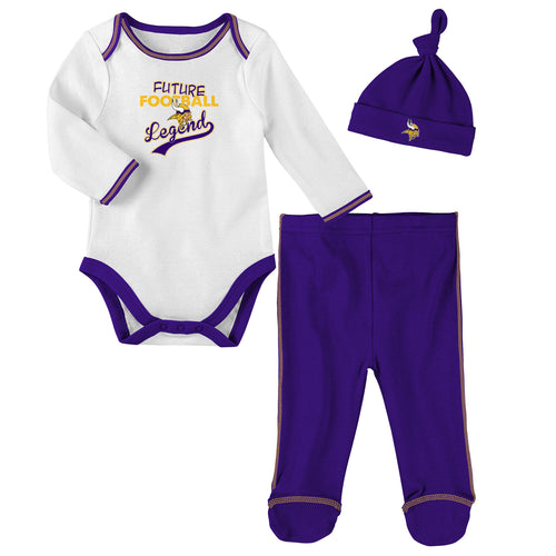 Minnesota Vikings Future Football Legend 3 Piece Outfit