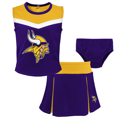 Minnesota Vikings 3 Piece Cheerleader Set