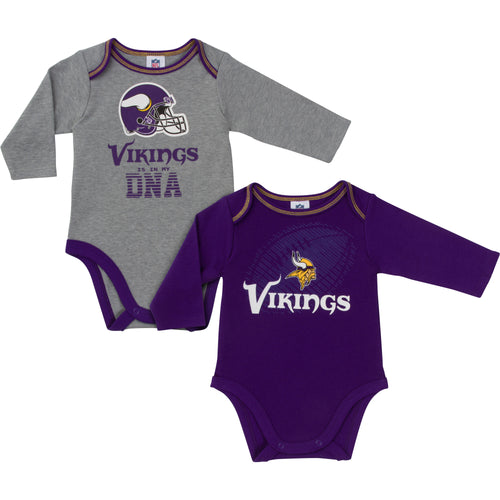 Vikings Is In My DNA 2 Pack Long Sleeved Onesies