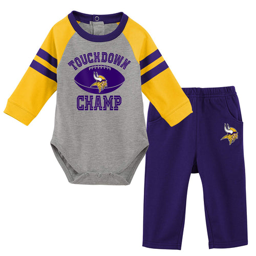 Vikings Baby Boy Creeper and Pants Set
